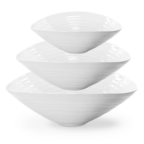 White Salad Bowl Set