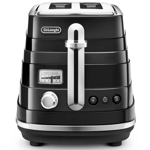 Delonghi Avvolta 2 Slice Toaster in Black