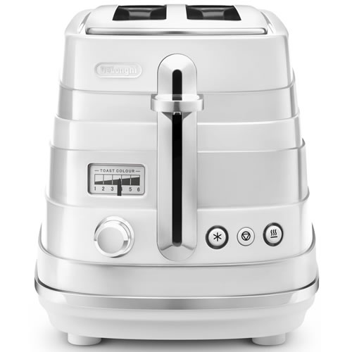 Delonghi  Avvolta 2 Slice Toaster in White