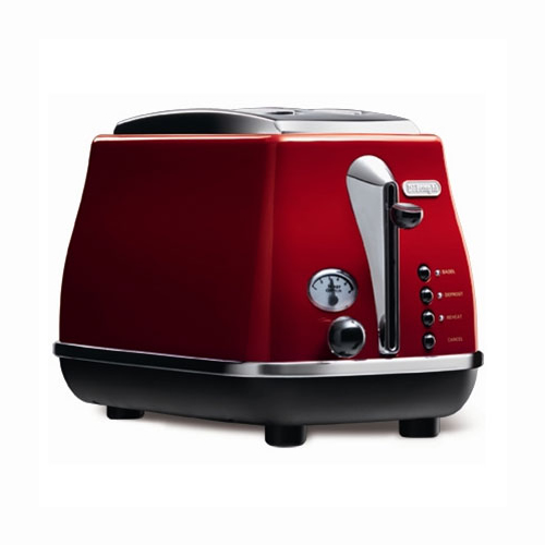 DeLonghi Icona Two Slice Toaster in Red
