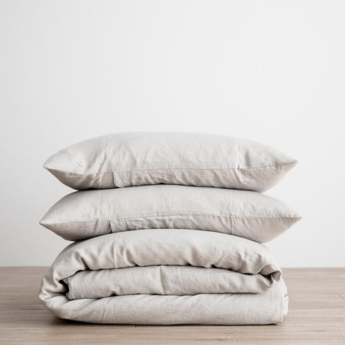 King Linen Duvet Cover Set - with pillowcases - Smoke Grey