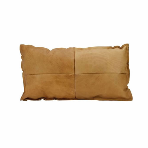Leather Lumbar Cushion Camel