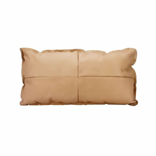 Leather Lumbar Cushion Nude