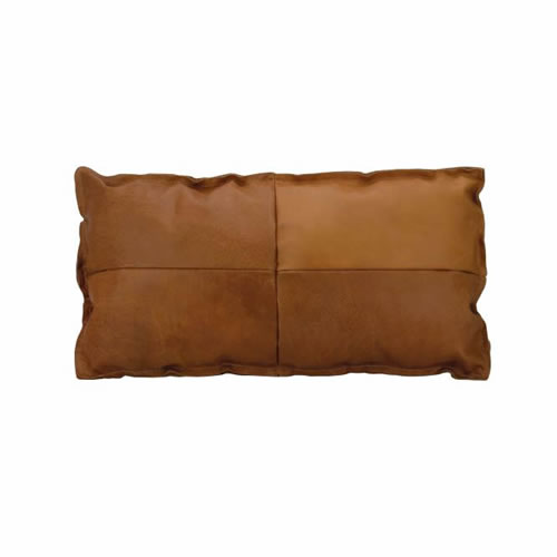 Leather Lumbar Cushion Tan