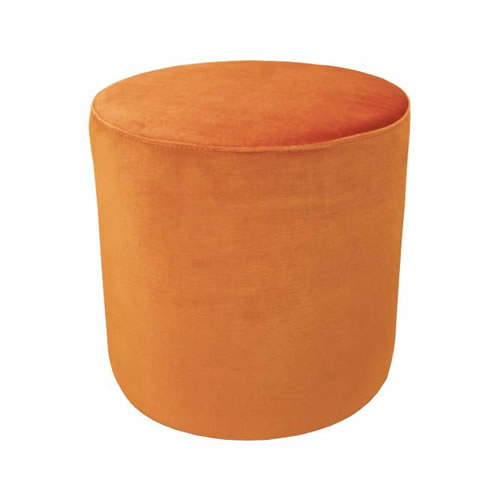 Darcy & Duke Velvet Ottoman Small Burnt Orange