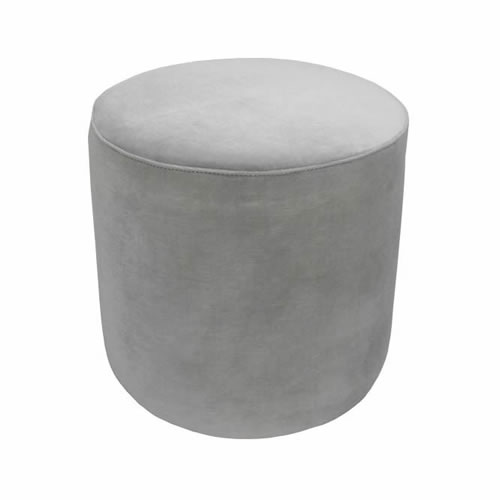 Darcy & Duke Velvet Ottoman Small Pebble Grey