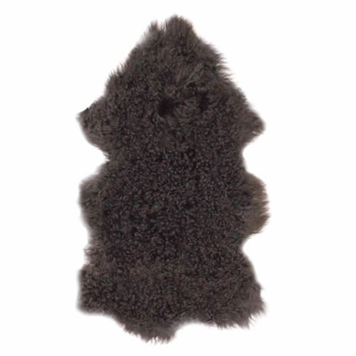 Fur Throw in Charcoal