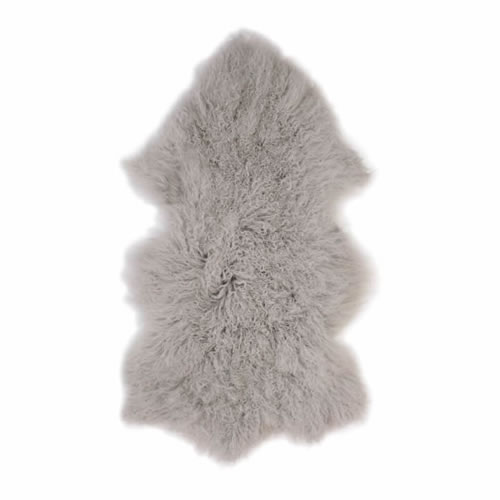 Fur Throw in Grey