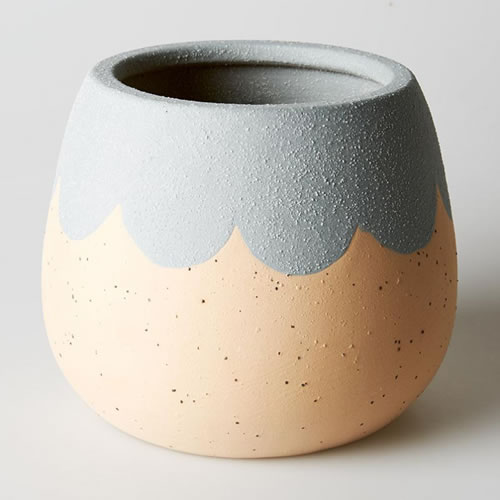 Petal Medium Planter Grey