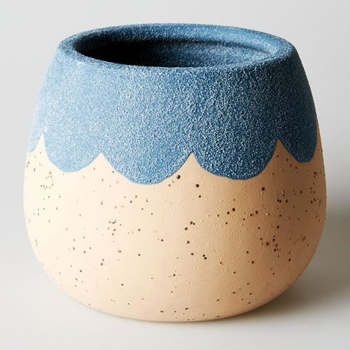 Petal Medium Planter Blue