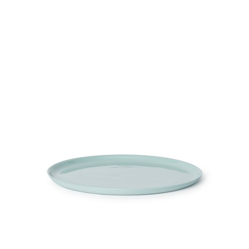 Scoop Dinner Plate in Blue