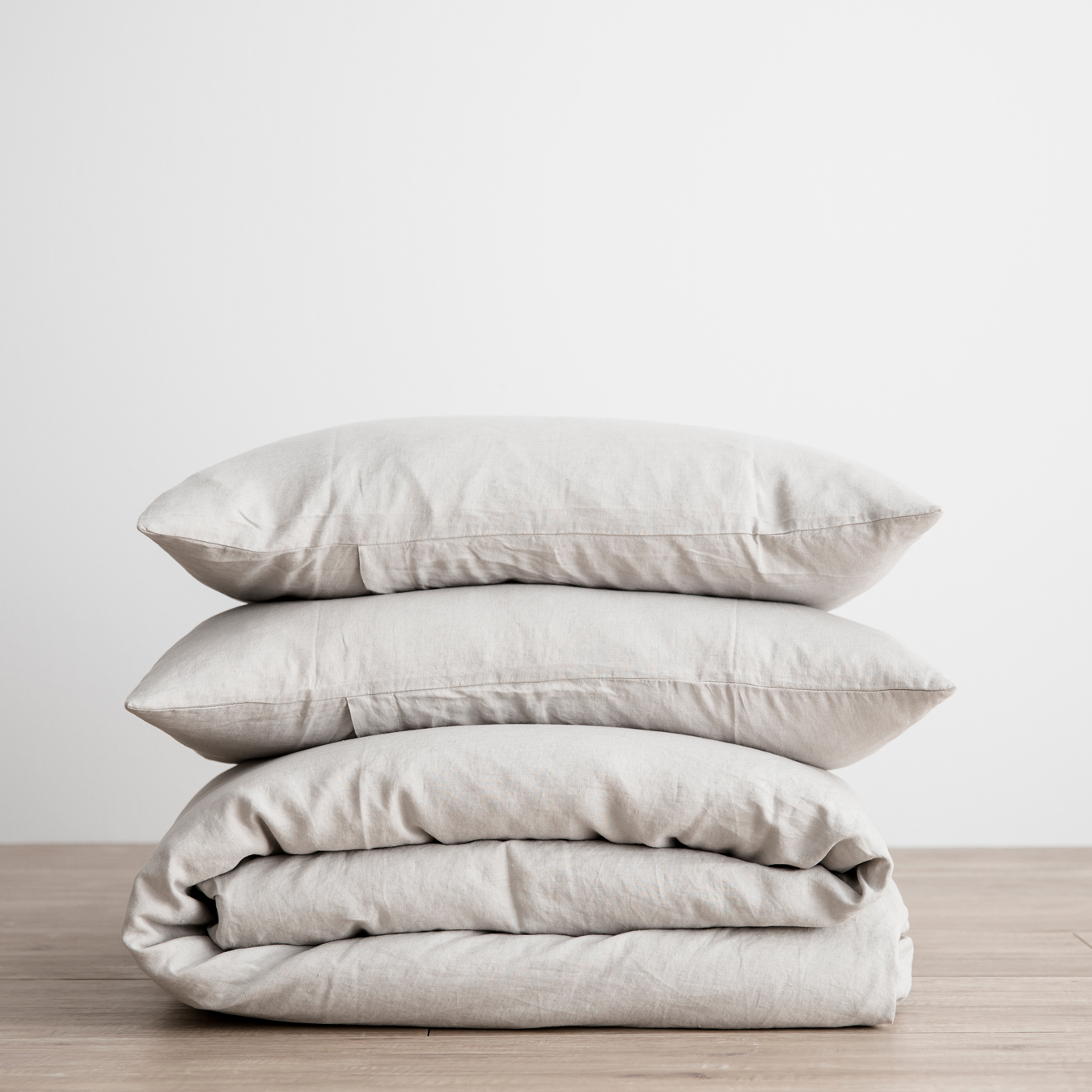 King Linen Duvet Cover Set - with pillowcases Smoke Grey