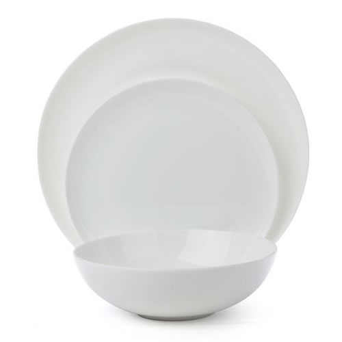 Ecology Canvas White 12pc Dinner Set Bone China