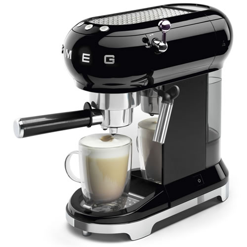 Smeg 50's Style Espresso Coffee Machine Black