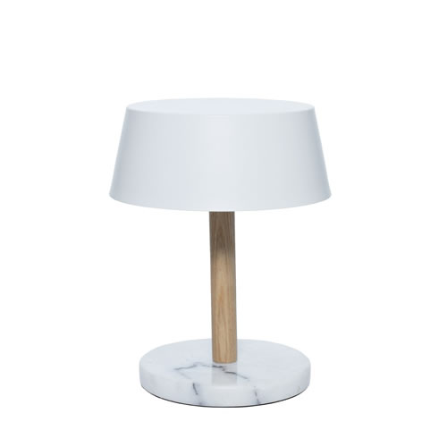 Eddie Table Lamp White