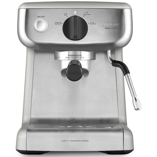Sunbeam Mini Barista Espresso Machine Stainless Steel