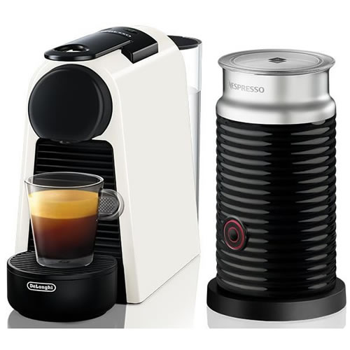 Delonghi Nespresso Essenza Mini & Milk Coffee Machine White