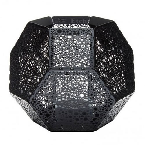 ETCH Tea Light Holder Black Spot
