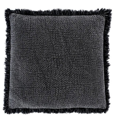 Chelsea Cushion with Fringe Slate 50x50cm