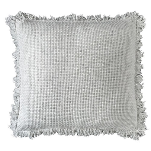 Chelsea Cushion with Fringe White 50x50cm