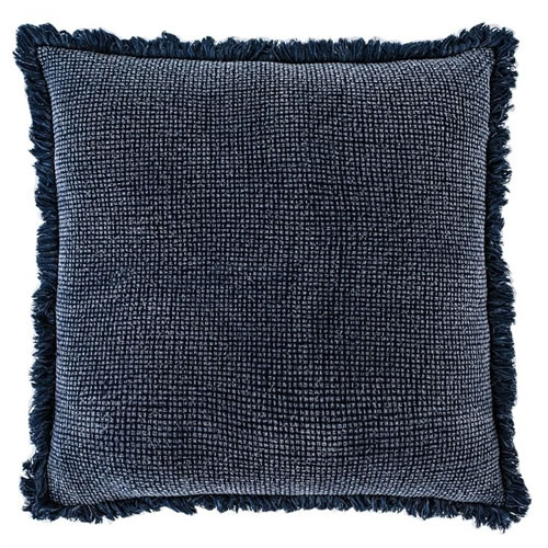 Chelsea Cushion with Fringe Navy 60x60cm