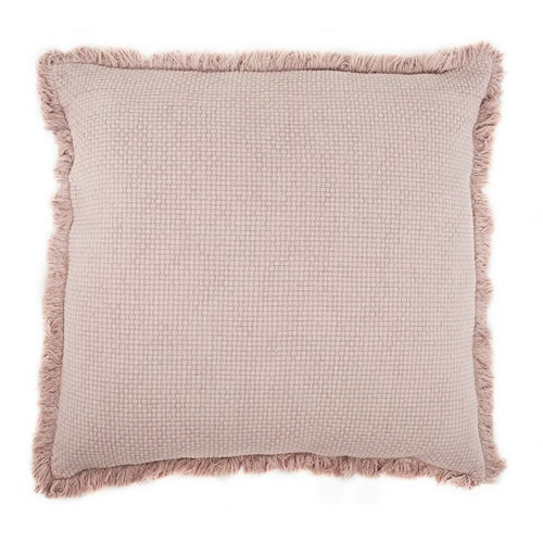 Chelsea Cushion with Fringe Musk 60x60cm