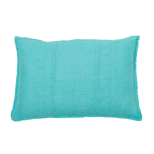 Turquoise Luca Cushion Linen 40x60cm