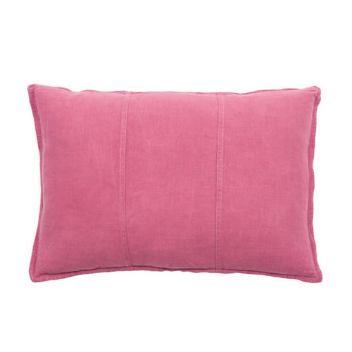 Bright Pink Luca Cushion Linen 40x60cm