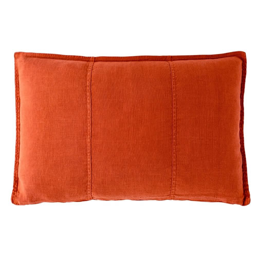 Burnt Orange Luca Cushion Linen 40x60cm