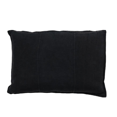 Black Luca Cushion Linen 40x60cm