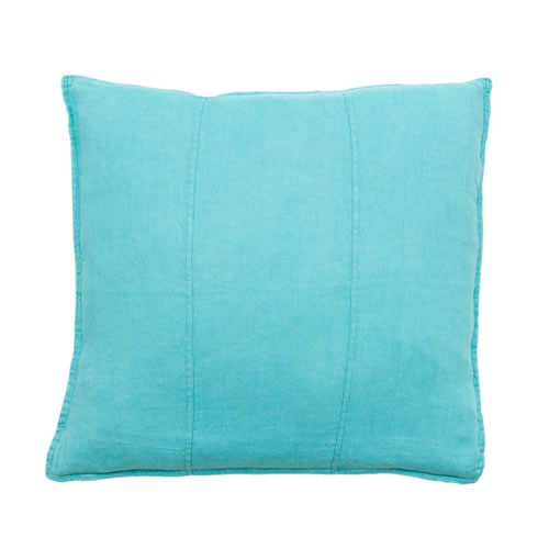 Turquoise Luca Cushion Linen 50x50cm