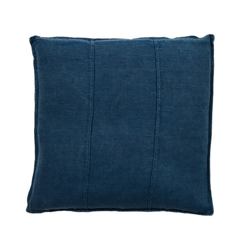 Navy Luca Cushion Linen 50x50cm