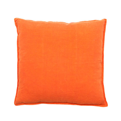 Orange Luca Cushion Linen 50x50cm