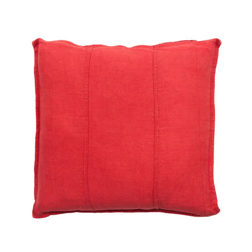 Red Luca Cushion Linen 50x50cm