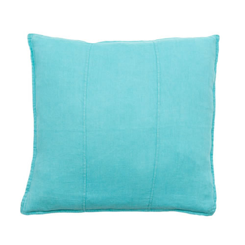 Turquoise Luca Cushion Linen 60x60cm