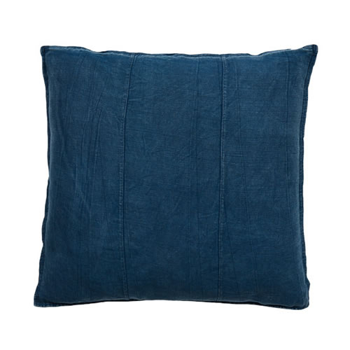 Navy Luca Cushion Linen 60x60cm
