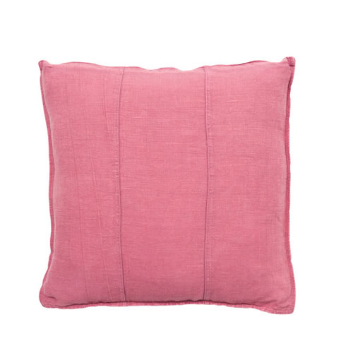 Bright Pink Luca Cushion Linen 60x60cm