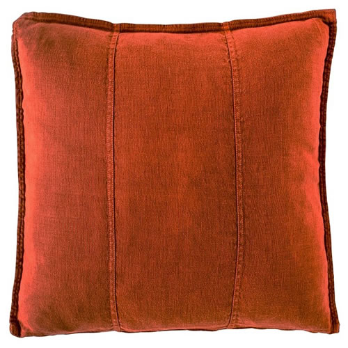 Burnt Orange Luca Cushion Linen 60x60cm