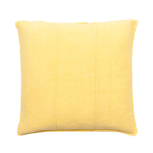 Yellow Luca Cushion Linen 60x60cm