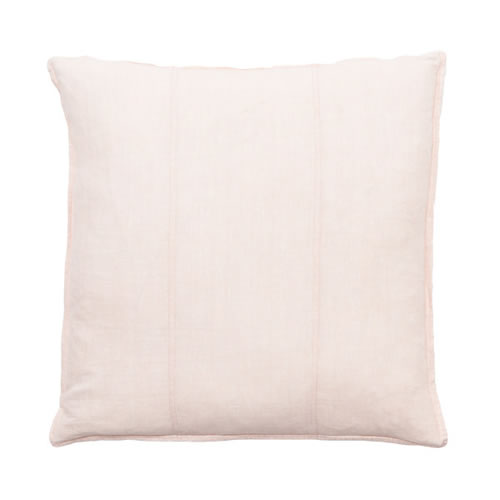 Soft Pink Luca Cushion Linen 60x60cm