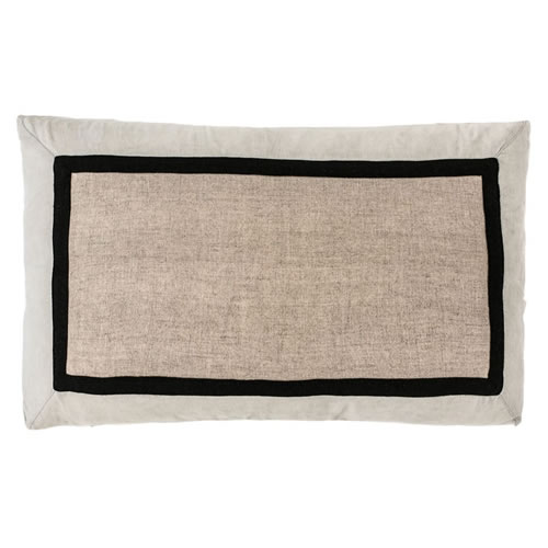 Villa Cushion 100% Linen Natural Silver Grey 40x60cm