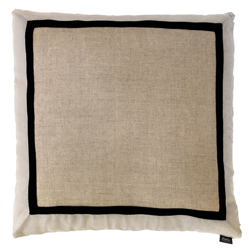 Villa Cushion 100% Linen Natural Silver Grey 60x60cm