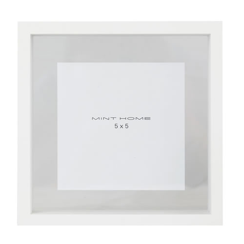 Zavier Square 5x5 Frame Colour White