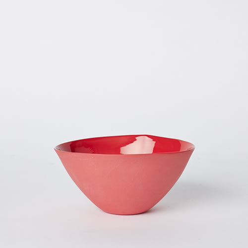 Medium Flared Bowl in Red