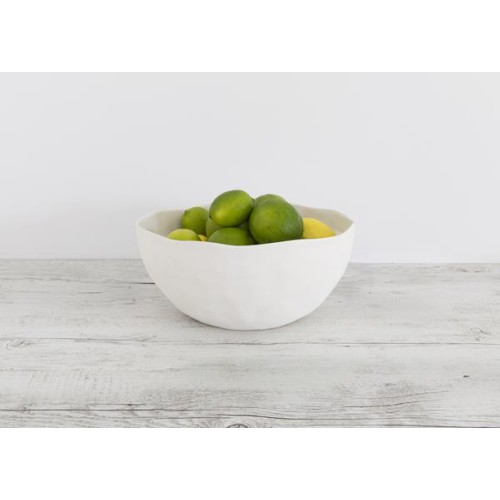 Flax Salad Bowl Snow White