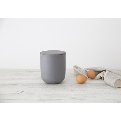 Flax Jar with Lid 16.5cm in Charcoal