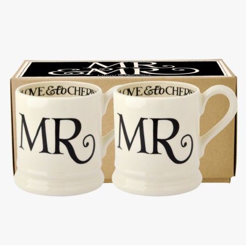 Black Toast Mr & Mr Mugs