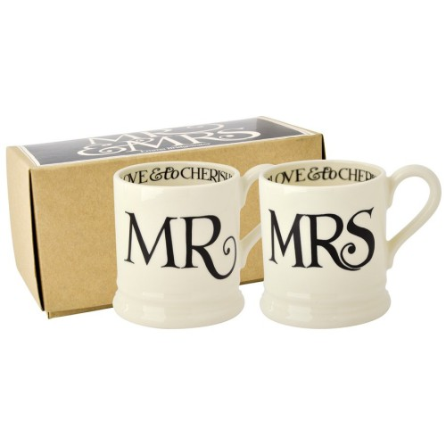 Black Toast Mr & Mrs Mugs