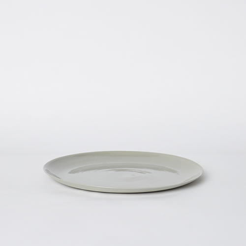 Flared Dinner Plate in Ash