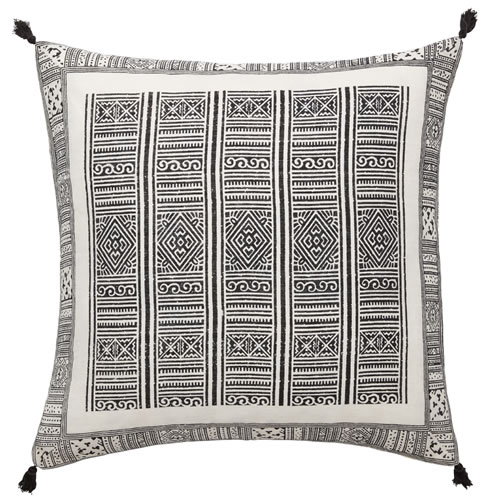 Folk Black Cushion
